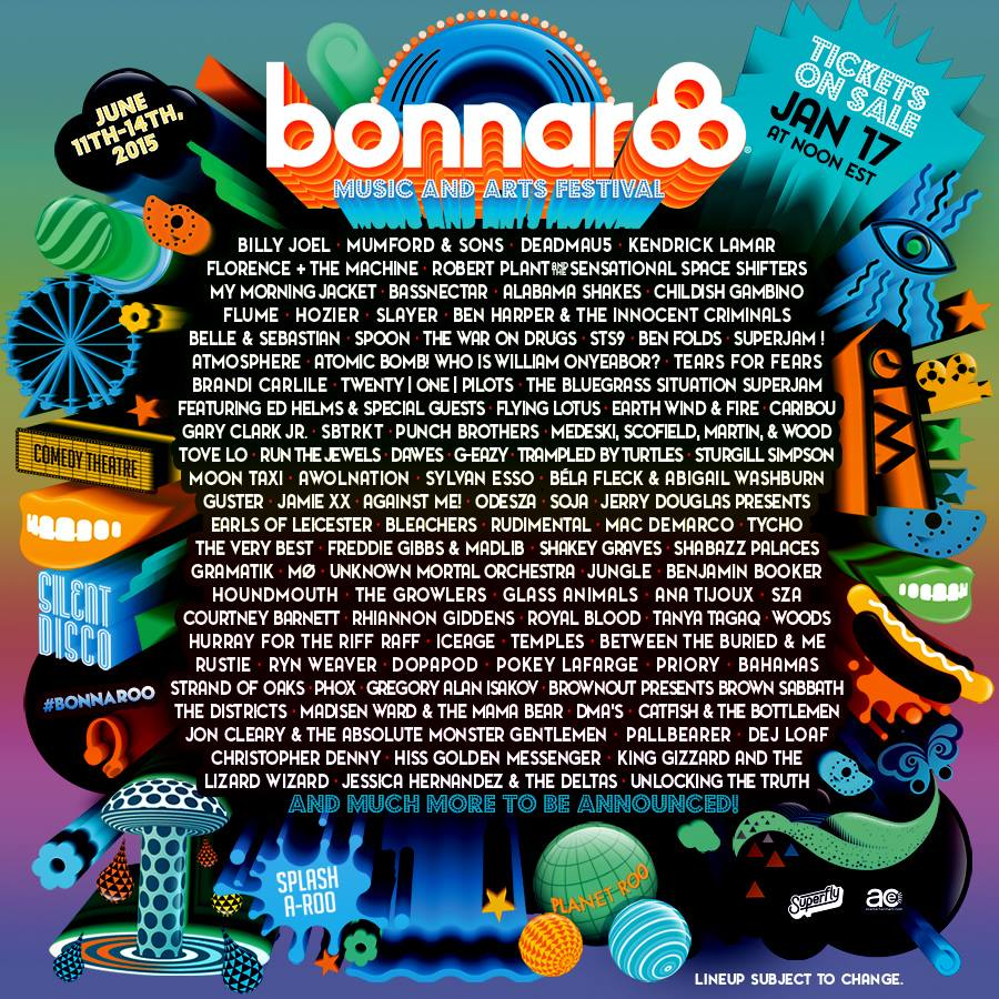 Bonnaroo Music and Arts Festival Lineup
