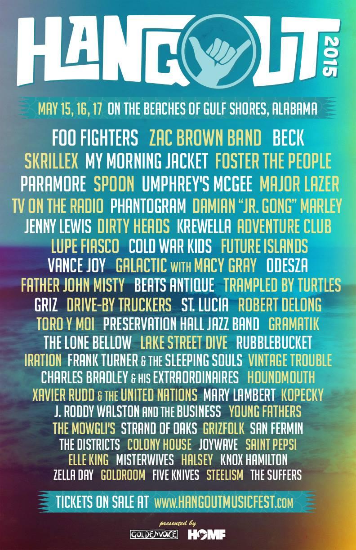 Hangout Music Fest Lineup